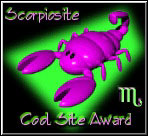 Scorpiosite Cool Site Award - jpg